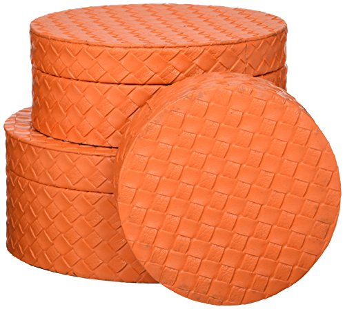 Home Locomotion Nesting Orange Jewelry Boxes