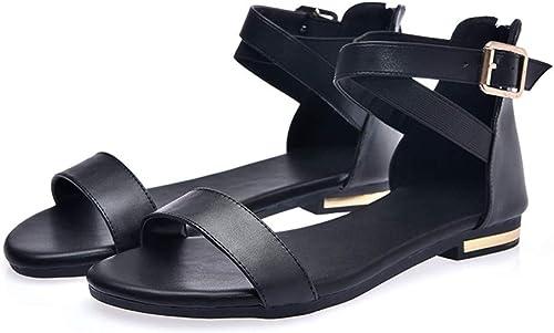 HommesGLTX Talon Aiguille Talons Hauts Sandales Sandales D'été D'été Chauds De Femmes De Mode avec La Fermeture éclair Noir Blanc Chaussures De Soirée Décontractée De Fête De Mariage  différentes tailles