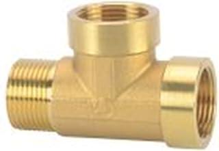 DZF697 Connecteur de cuivre 1PC T-Shirt Connecteur de cuivre mâle-Femelle-Femelle à Filetage d'eau Coupleur de gaz 1/8 1/4...