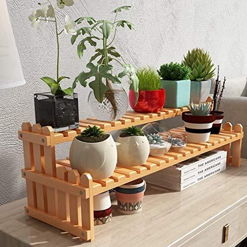 Desktop Storage Rack, Bamboo Tribune van de bloem, Kleine Succulent Flower Stand (Kleur: Geel, Maat: 70CM) HAOSHUAI (Color : Yellow, Size : 30CM)