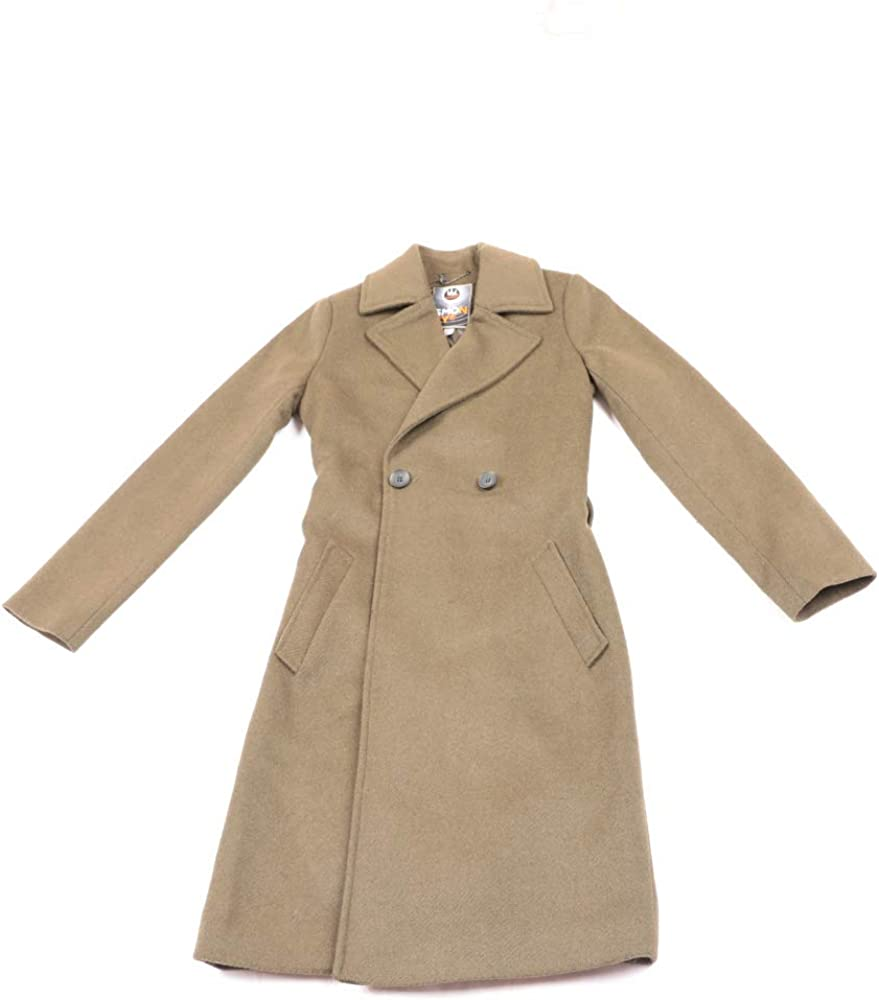 SMONTY Long Wool Blend Slim Double Charlotte Mall Trench Excellent Coat Fit Breasted
