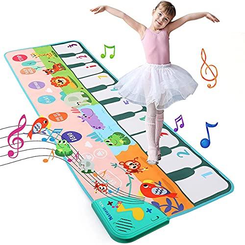 KWINY Alfombrilla de piano para niños, tapete multifunción para teclado para niños, alfombrilla de teclado musical para bebés, niños y niñas (110 x 36 cm)
