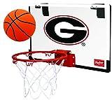 Rawlings NCAA Game On Polycarbonate (PC) Mini Basketball Hoop Set, Georgia Bulldogs