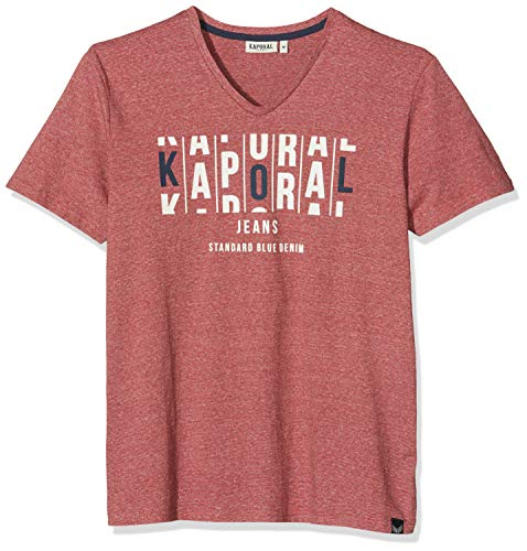 KAPORAL Molia T-Shirt, Rosso (Red mélange Red Mel), Small Uomo
