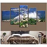 A&D Leinwand HD Drucke Gemälde Wandkunst 5 Stücke Cristo