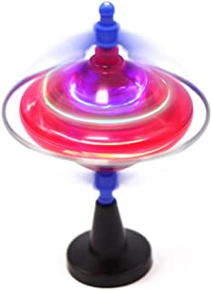 Ruipunuosi LED Light Gyroscope Toy Colorful Rotary Gyroscope Educational Toy Flash Music Spinning Gyro Children Toy Children Christmas Birthday Gift