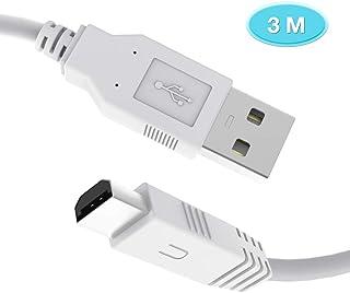 6amLifestyle wiiu 充電ケーブル 【白 3メーター】 GamePad ゲームパッド コントローラー専用USB充電ケーブル