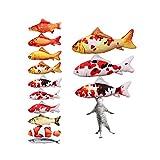 【全9種】 HQUEC 猫 おもちゃ 魚好きに 噛む 3点セット 抱き枕 おもしろい ペット用品 けりぐるみ 爪とぎ プレゼント ハロウィン (30cm, C)