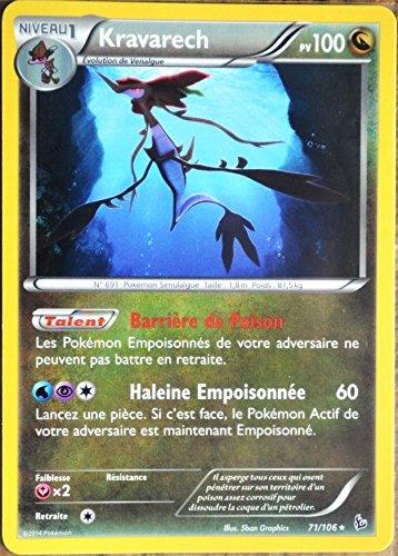 carte Pokémon 71/106 Kravarech 100 PV - RARE Xy Étincelles NEUF FR