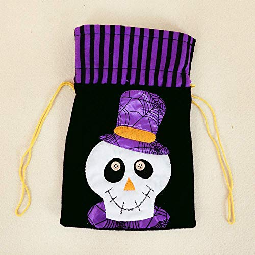 Great Deal! Halloween Cartoon Candy Canvas Bag, Pumpkin Head Gift Packaging Bag, Cotton Bundle Gift ...