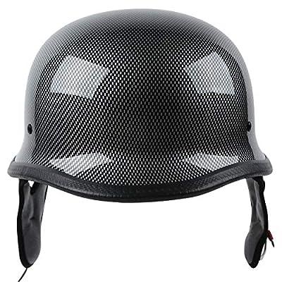 XFMT Dot German Style Carbon Fiber Motorcycle Cruiser Chopper Half Helmet XL