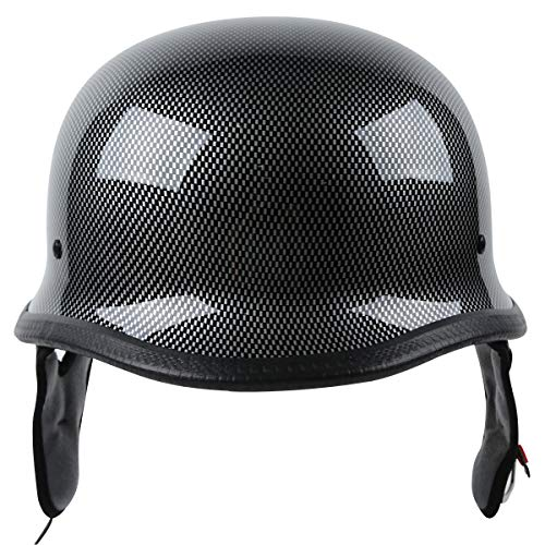 XFMT Dot German Style Carbon Fiber Motorcycle Cruiser Chopper Half Helmet XL