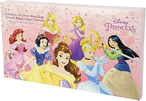Princess- 24-Days of Fun Advent Calendar - Set Trucco Ragazze - Calendario dell'Avvento delle Principesse Disney con 24 Prodotti e Accessori Divertenti e Colorati - Giocattoli e Regali per Bambine
