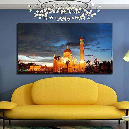 Sanzangtang Poster en afdrukken op canvas muurkunst schilderij aan de muur van de decoratieve moskee woonkamer afbeelding zonder lijst
