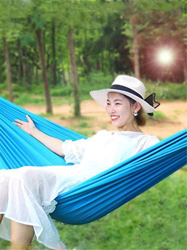 Hamac Bleu en Plein Air Adulte Portable Camping Toile Unique Double Famille Dortoir Multifonction Hamac Pratique