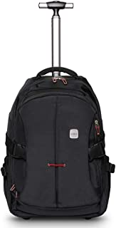 19 inches Wheeled Rolling Backpack for Adults and School Students Laptop Books Travel Backpack Bag