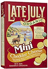 Late July Late July Organic Mini Cheddar Cheese Sandwich Crackers 5 oz Box Vegetarian, Organic