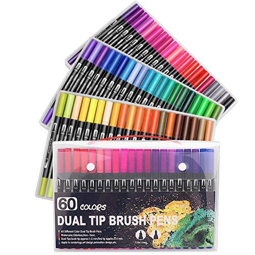 Bullet Journal - 60 rotuladores colorear punta doble