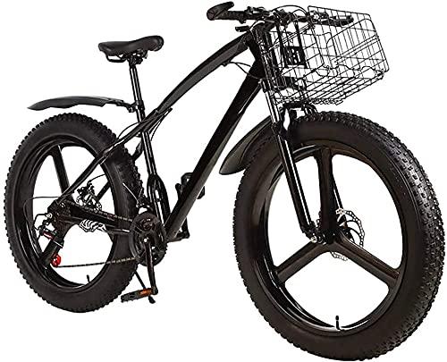 CASTOR Bicicleta electrica Bicicleta de montaña de los Hombres del neumático Gordo, 3 Habla 26 en Bicicleta de Bicicleta de Freno de Disco Doble para Adolescentes Adultos