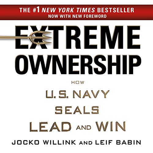 Extreme Ownership     How U.S. Navy SEALs Lead and Win              Written by:                                                                                                                                 Jocko Willink,                                                                                        Leif Babin                               Narrated by:                                                                                                                                 Jocko Willink,                                                                                        Leif Babin                      Length: 9 hrs and 33 mins     1,055 ratings     Overall 4.7