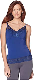 Rhonda Shear Pin-Up Lace Camisole Tank~ Navy Blue 2X