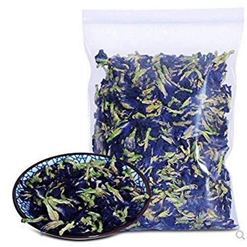 500 Grams (17.6 Oz) Naturally Produced Blue Butterfly Pea Flowers, Organic Dried Butterfly Pea Flower Clitoria Ternatea Herbs Herbal Healthy Tea Drink Recipes Food Coloring Antioxidants Aging Wrinkles