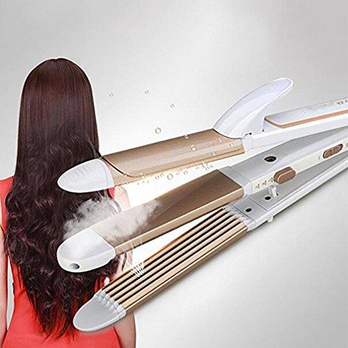 Hair Straightener Lockenwickler Haarglätter 3 In 1 Negative Ionen Lockenstab Bügeleisen 30S Heizung Keramik Lockenstab Mais