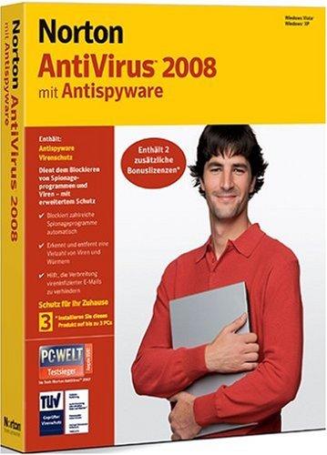 Norton AntiVirus 2008 3 Benutzer - deutsch