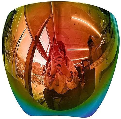 Dzhzuj Gafas de sol protectoras para cara completa polarizadas espejo grande gafas de sol con visera de espejo espejo/gafas de sol para hombres y mujeres (rojo)