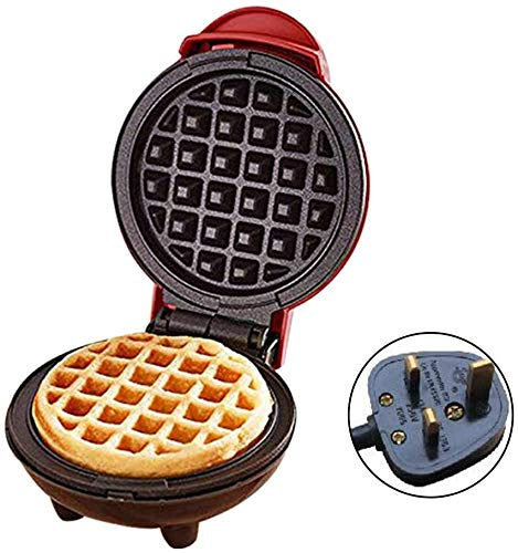 350W Mini draagbare elektrische Ronde grillplaat Household Waffle Maker Machine met Indicator Light for Individual pannenkoeken, koekjes, eieren en andere on the go ontbijt, lunch & Snacks jilisay