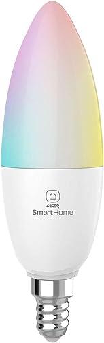 Laser WiFi Smart RGBW Dimmable LED Bulb E14 Google Home Alexa