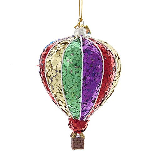 Kurt Adler NB1526 Noble Gems Multi-Color Hot Air Balloon Ornament, 3-inch High, Glass
