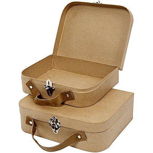 Koffer, handgearbeitet, Größe 22,5x18x6,5 cm, Größe 25,5x20x8 cm, 2Stck.