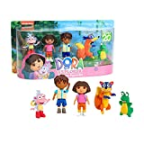 Dora the Explorer Collector Figure Set, 5-Pieces, Includes Dora, Diego, Boots, Swiper, and Isa
