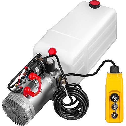 12V 180 bar 2000 Watt Hydraulikaggregat Funkfernbedienung Hydraulikpumpe mit 4 Liter Tank und Kabelfernbedienung 1 x Funkfernbedienung