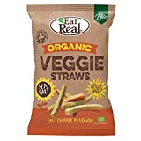 Eat Real Pajitas orgánicas para verduras, 100 g, paquete de 10