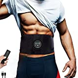 Yonars EMS Stimulateur Musculaire, ABS électrostimulation USB entraîneur Musculaire Abdominal électrique Ceinture 6 Modes 18 Niveaux pour Stimulateur Musculaire Femme Homme