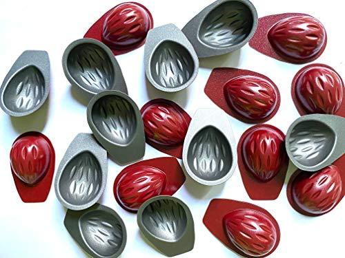 Eco Haus Living Set di 20 stampi per frutta a guscio con rivestimento antiaderente, ideali per mini noci pieni riempiti di noce, 20 pezzi da 4 x 3 cm