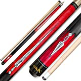 Tai ba cues HitsX 2-Piece Pool cue Stick, 13mm Tip, 58', Hardwood Canadian Maple Professional Billiard Pool Cue Stick 18,19,20,21 Oz Pool Stick (Selectable)-Blue, Black