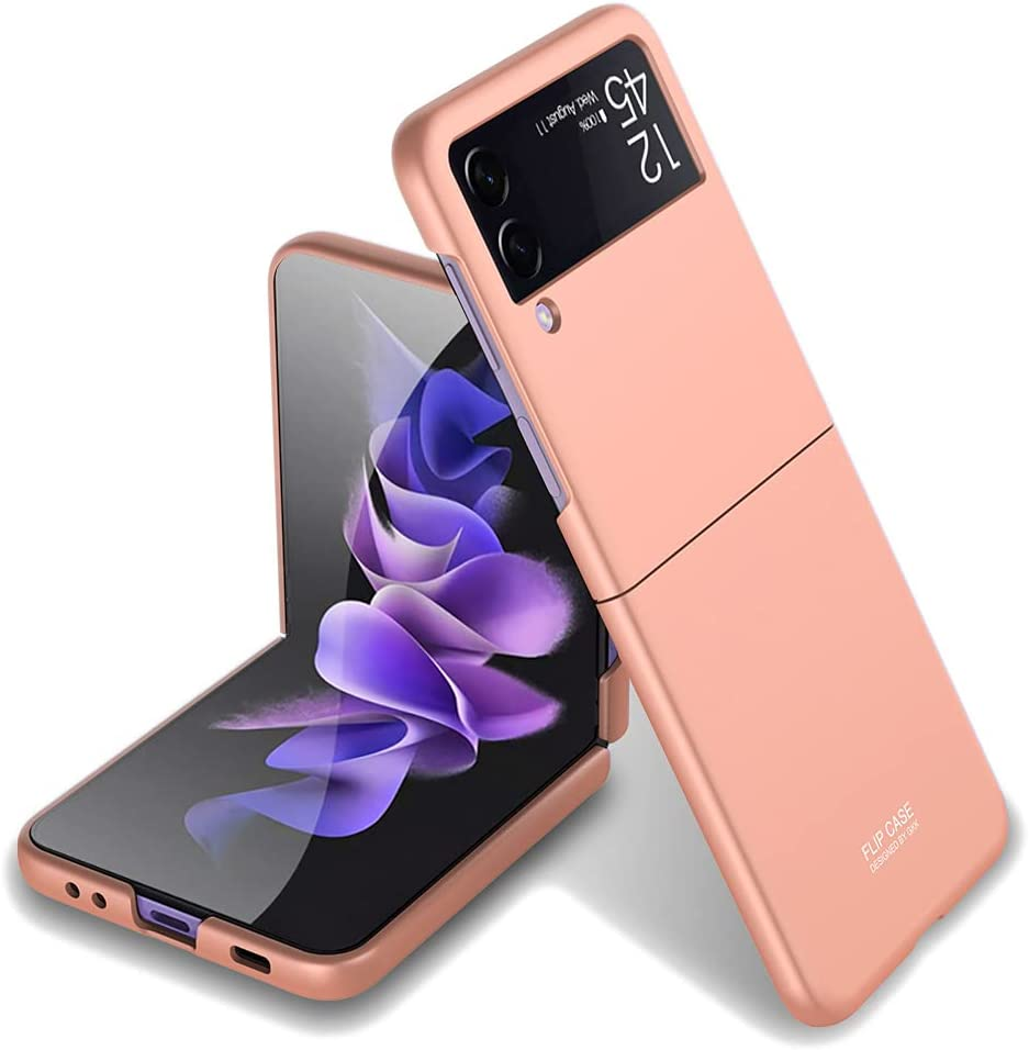 Ultra-Slim Case for Samsung Galaxy Z Flip 3, Hard PC Shockproof Case for Galaxy Z Flip 3 (Bronze)