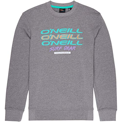 O'Neill Herren LM Triple Logo Crew Sweatshirts, Silver Melee, S
