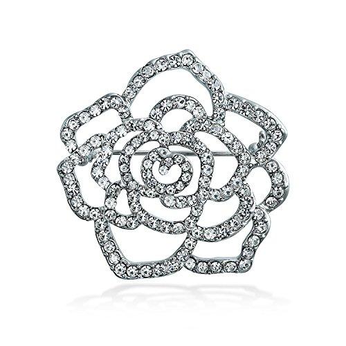 Bling Jewelry Large Rose Flower Sha…