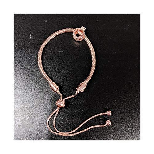 XPWOZ Gold silver rose gold adjustable ladies bracelet (Color : Silver Plated)