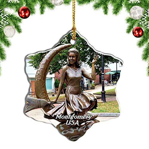 Weekino USA America Salem Bewitched Statue of Elizabeth Montgomery Christmas Ornament Travel Souvenir Tree Hanging Pendant