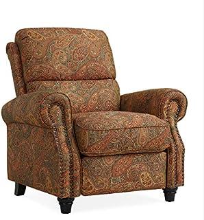 Domesis Cortez - Cloth Push Back Recliner Chair, Paisley