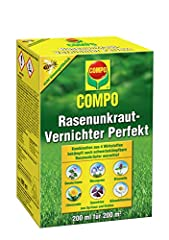 COMPO Lawn Weed Killer Perfect, Vernietiging van hard-to-fight onkruid, concentraat, 200 ml (200m2)*