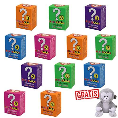 SPAR-SET 170447 sort. - Carletto - Ty Collectibles - 12 Mini Boos! Serie 3 Figuren mit Glitzeraugen, mehrfach Sortiert