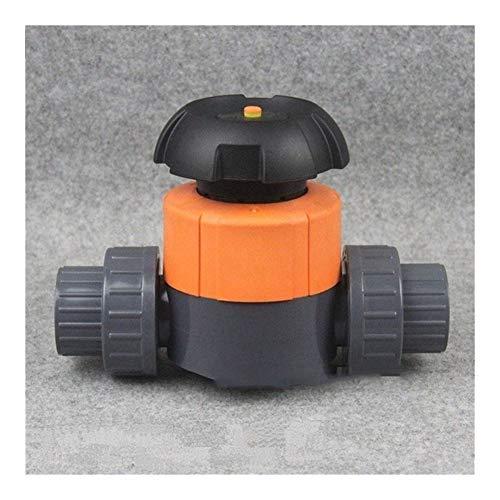 YEZIB Rohrzubehör Reparaturzubehör 1pc I. D 20~63mm PVC-Membranventil Aquariumbehälter Rohr-Ventil-Industrielle Wasseraufbereitung Doppel Union Gärten Wasserrohrverbinder Gartenwasseranschluss.