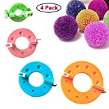 Curtzy Pom Pom Maker Kit 4 Appareils à Pompons de Tailles Différentes - Fluff Ball Weaver - Ensemble d'Outils artisanaux Création de Pompons pour Décorations, Guirlandes, Pendentifs et Plus