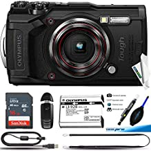 Olympus Tough TG-6 Waterproof Camera, Black -16GB Basic Bundle